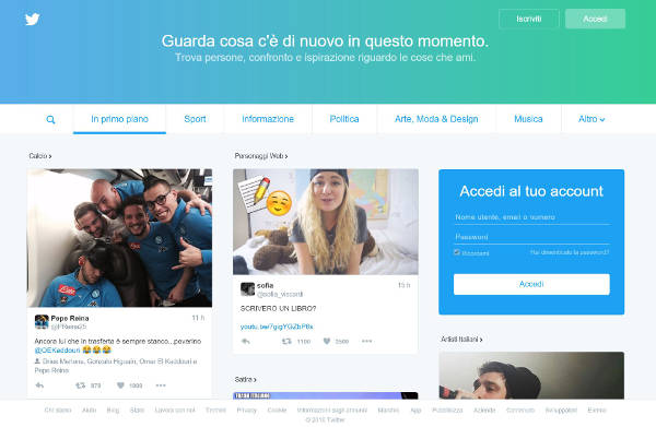 twitter nuovo layout