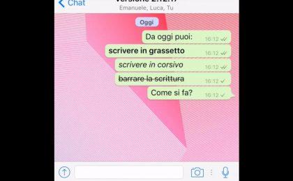 Whatsapp, come funziona la formattazione del testo