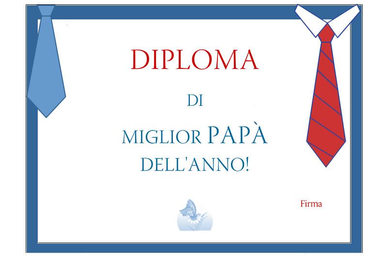 Diploma Papà dell'anno