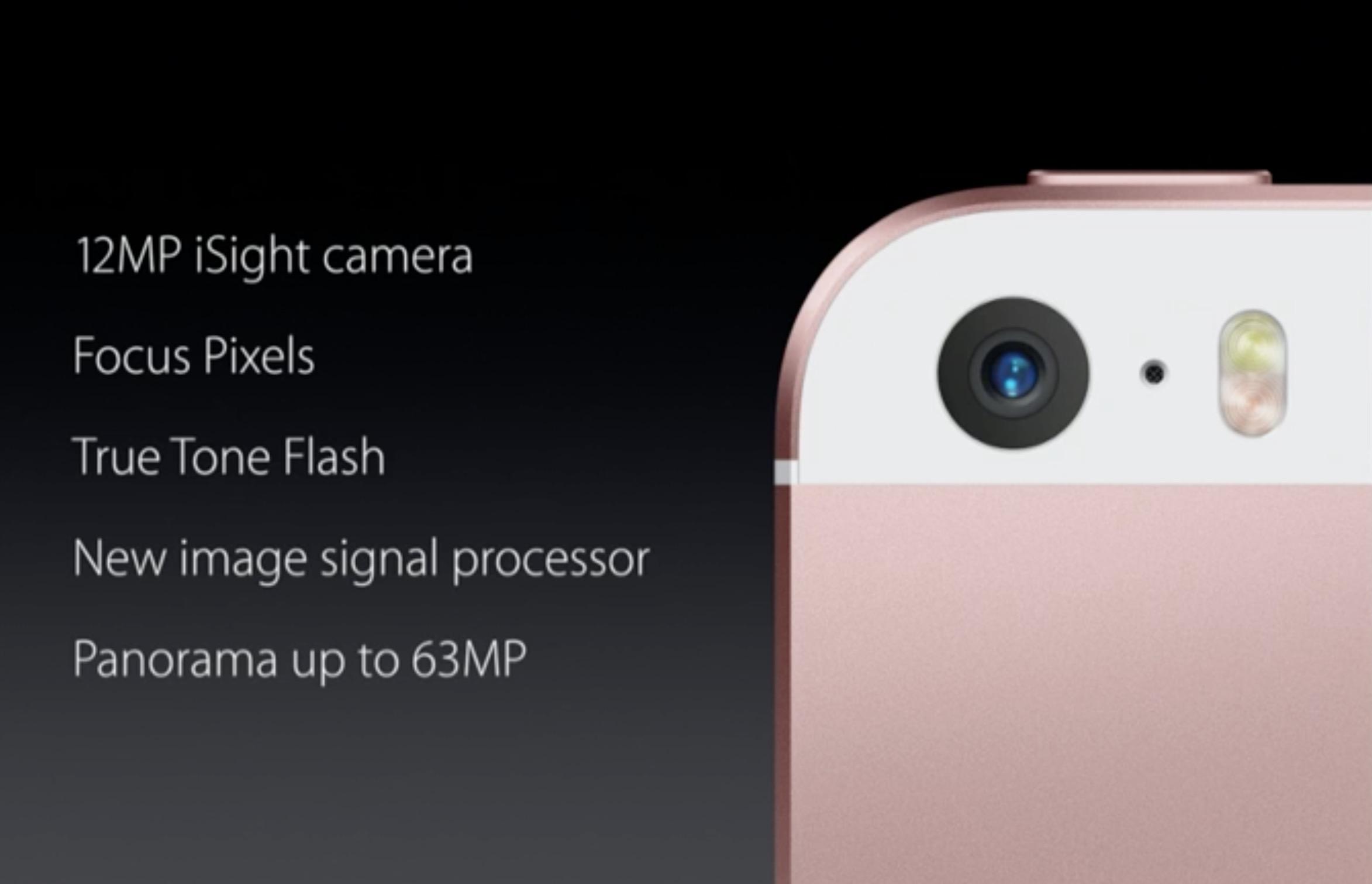 Fotocamera iPhone SE