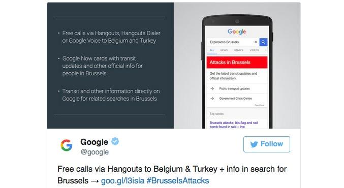 Google offre chiamate gratuite in Belgio e Turchia per aiutare i cittadini