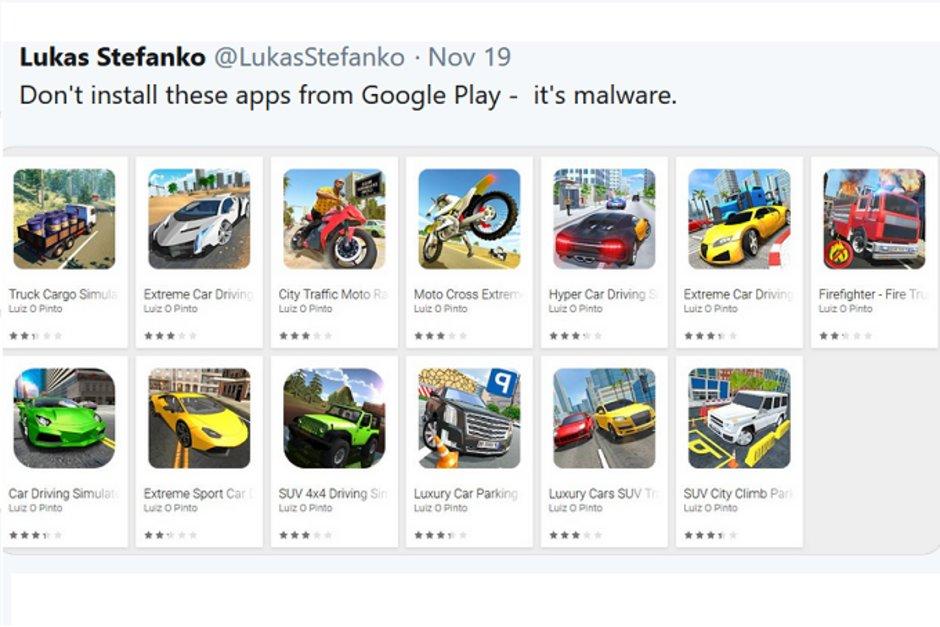 Malware Android: cancellate 13 applicazioni malevole