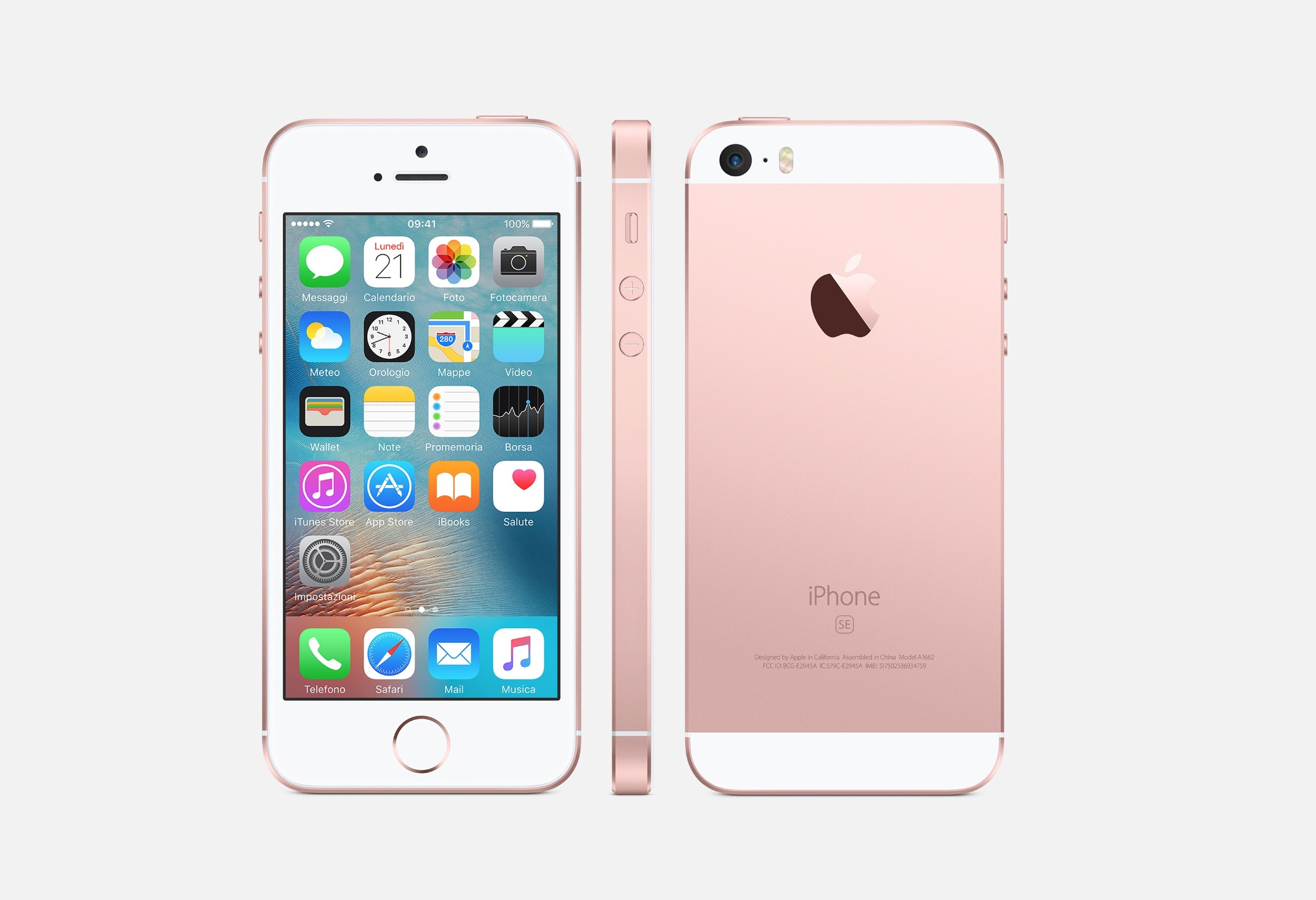iPhone SE color oro rosa
