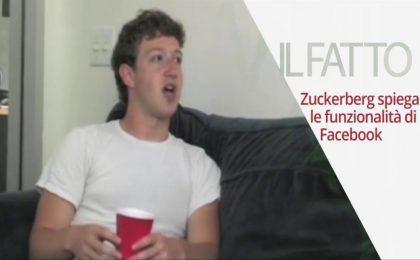 Mark Zuckerberg in un'intervista inedita dove si parlava di Facebook