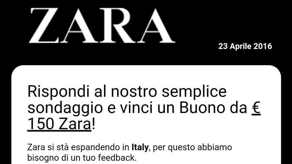 Buono sconto 150 euro Zara
