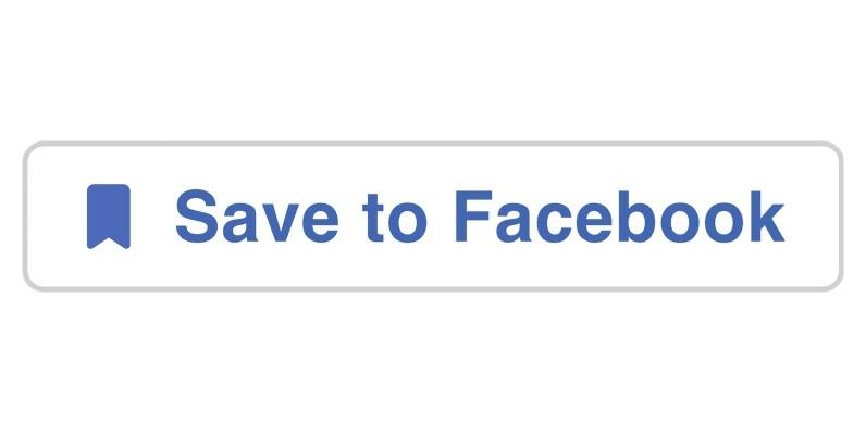 Salva su Facebook pulsante