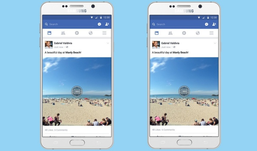 Facebook aggiunge le foto a 360 gradi nel News Feed