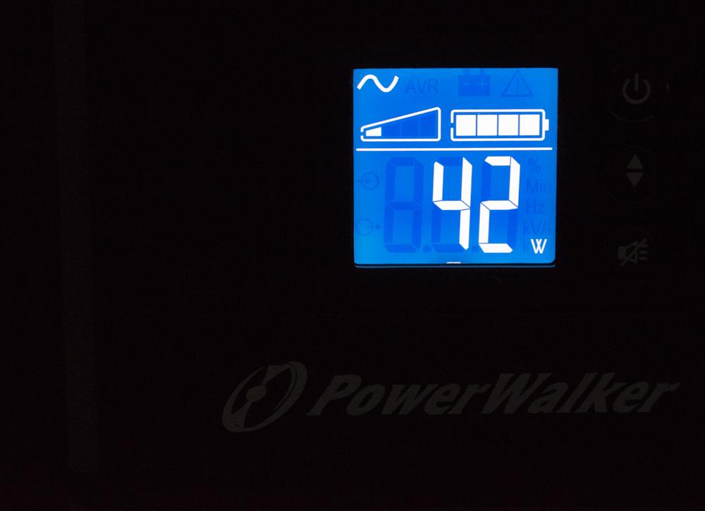 PowerWalker VI 500T HID UPS display