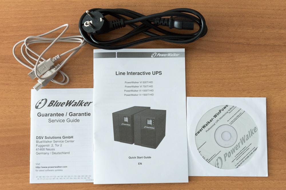 PowerWalker VI 500T HID manuali cavi e CD