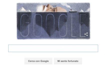 Google Doodle per Sigmund Freud con l'inconscio-iceberg