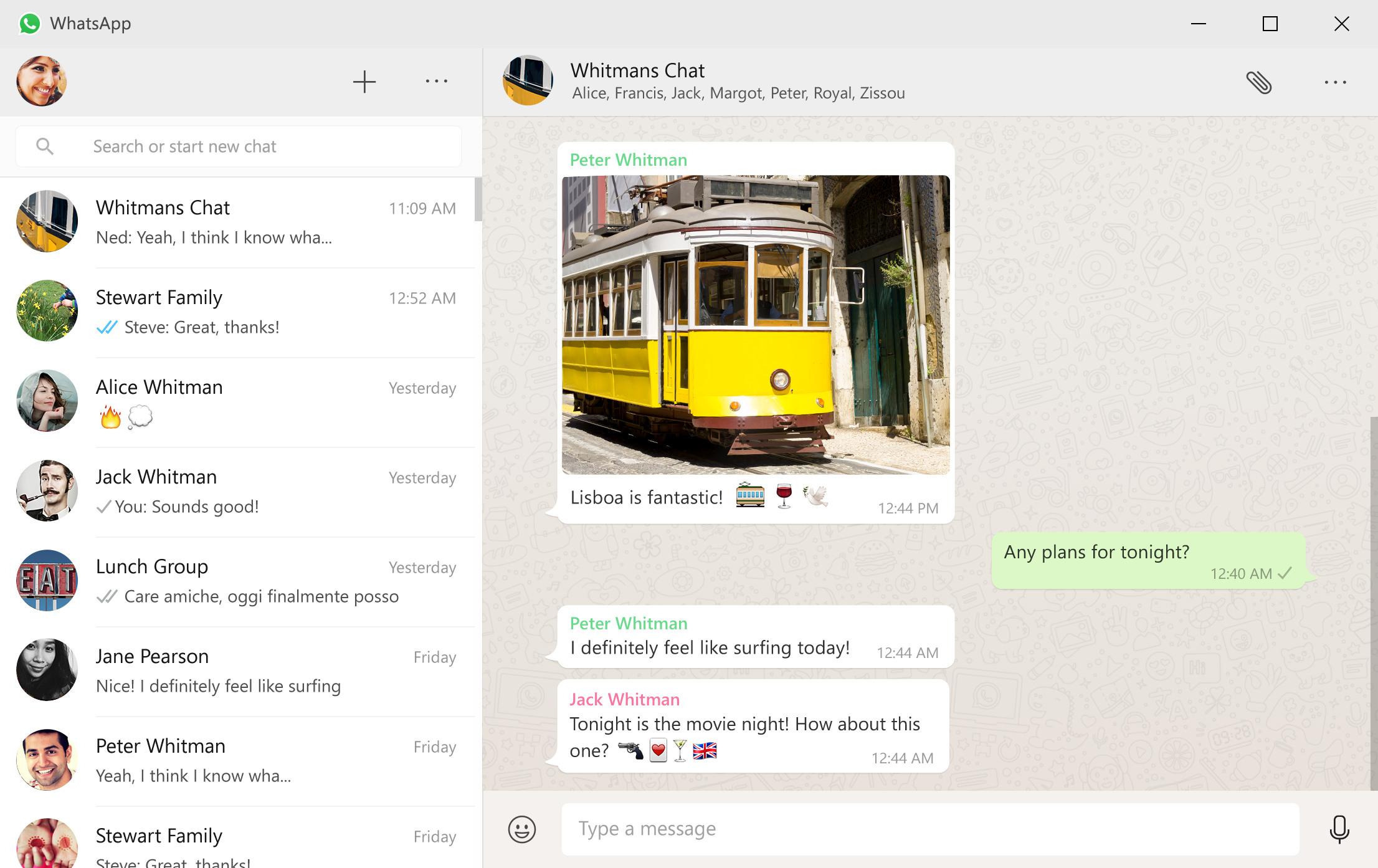 WhatsApp client Windows e Mac
