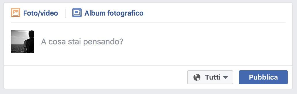 A cosa stai pensando Facebook