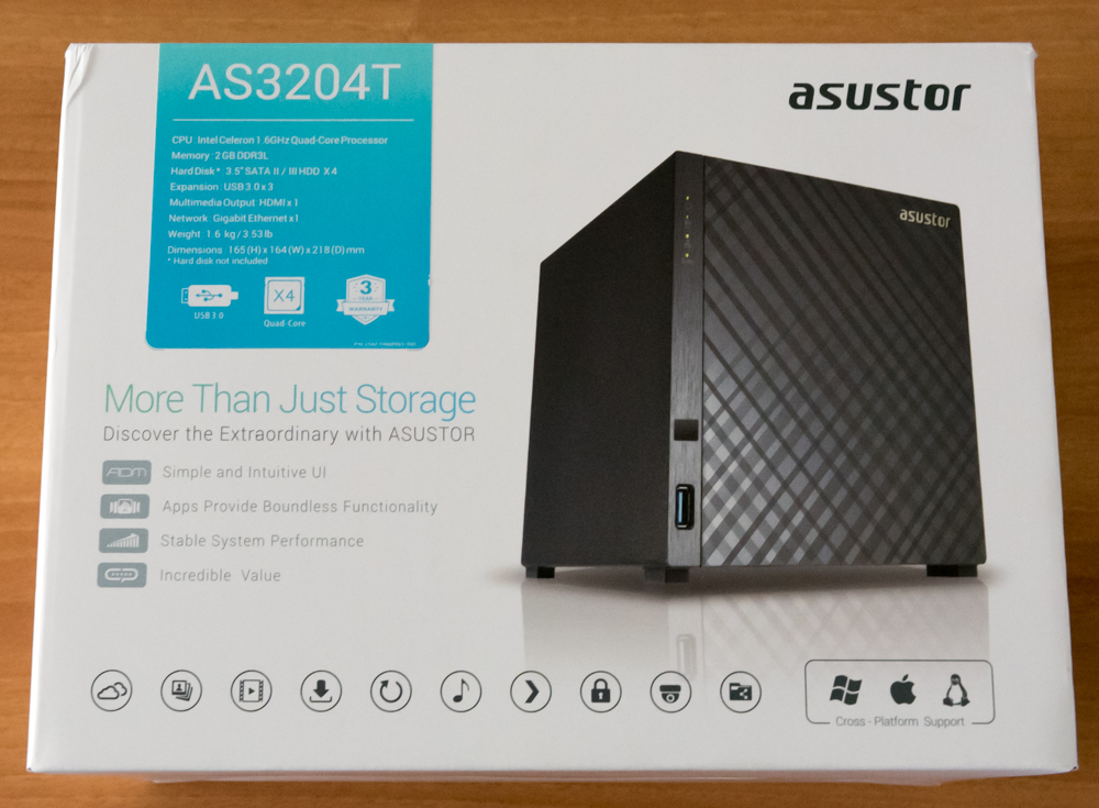 Asustor AS3204T unboxing