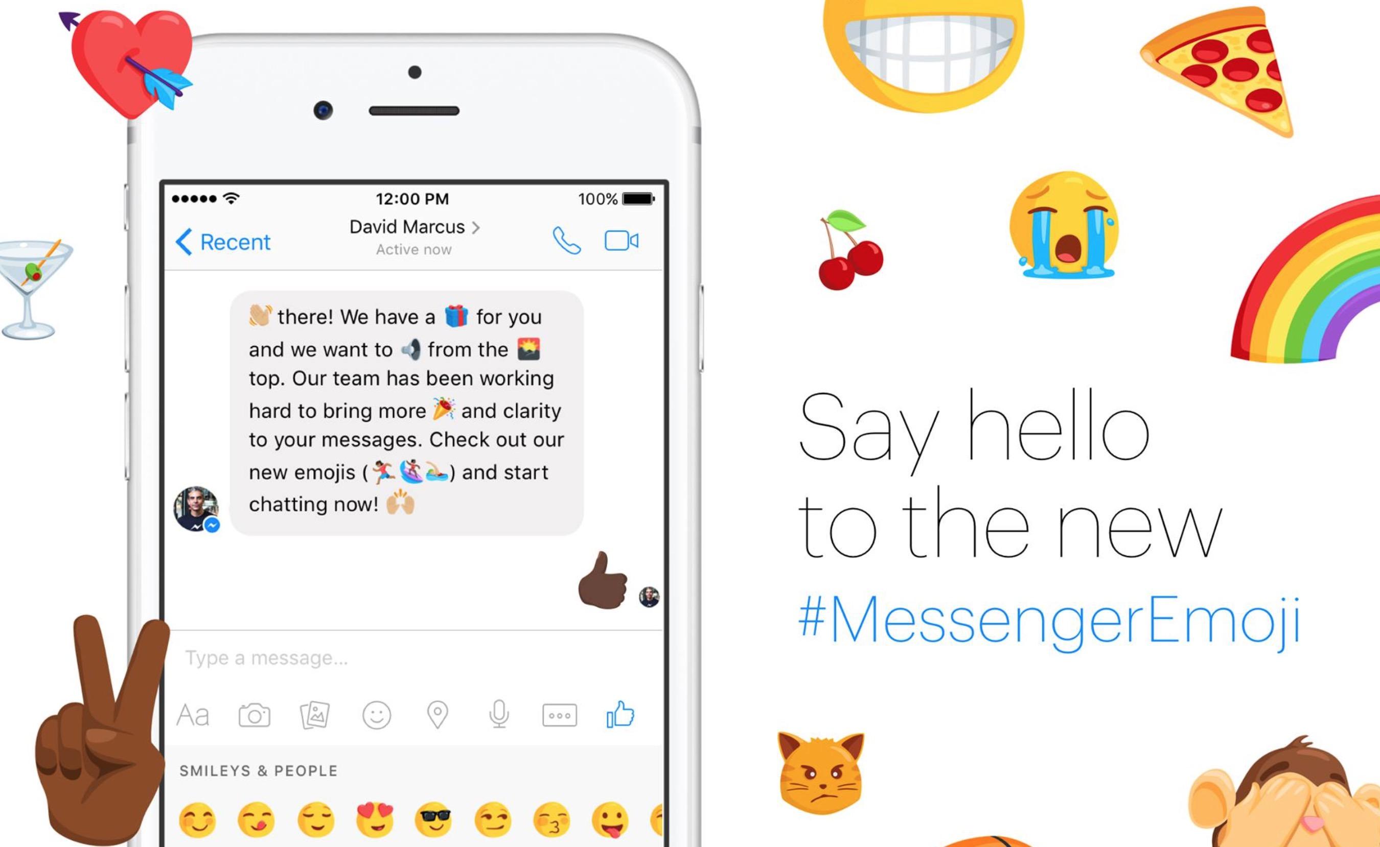 Facebook Messenger, nuove emoji con colore della pelle e sesso