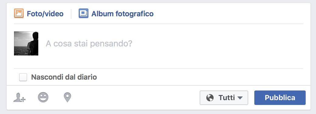 Facebook nascondi dal diario