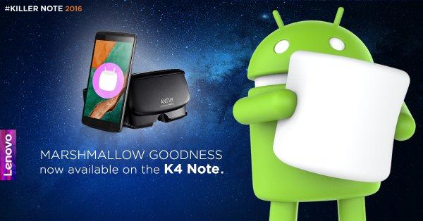 Lenovo K4 Note in aggiornamento a Android 6 Marshmallow