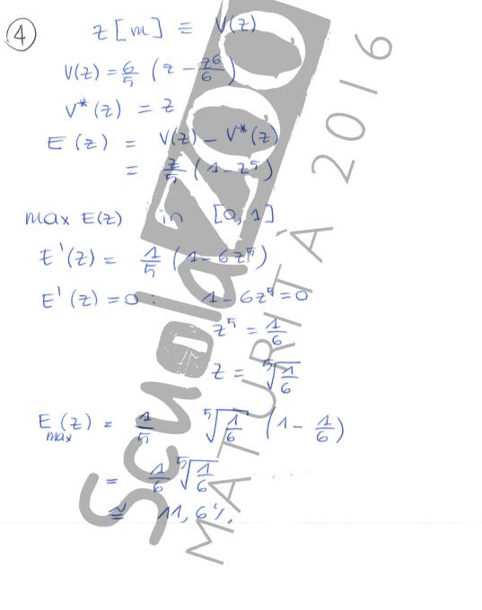 Matematica soluzione problema maturità 2016 quinta