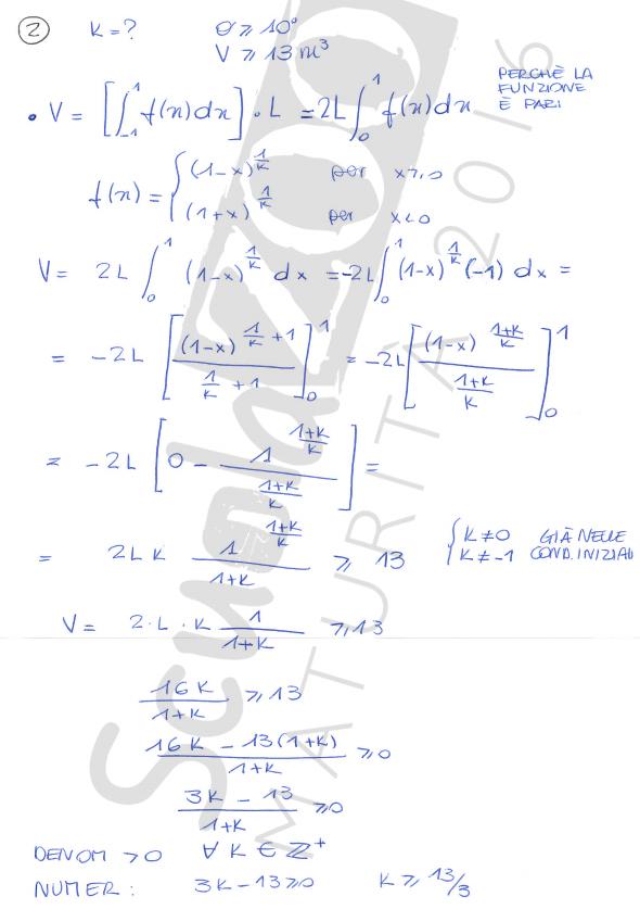 Matematica soluzione problema maturità 2016 seconda
