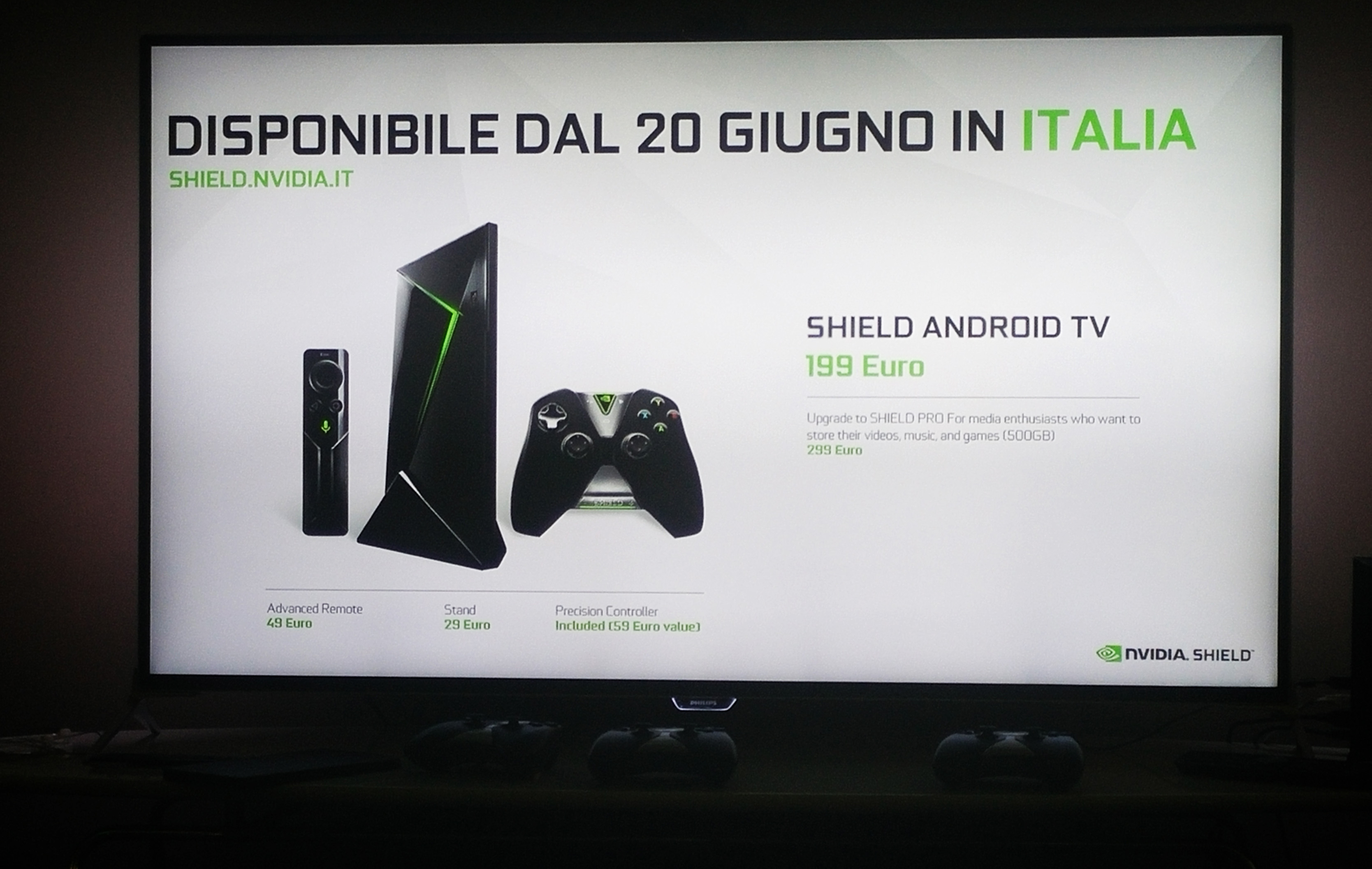 NVIDIA Shield Android TV in Italia