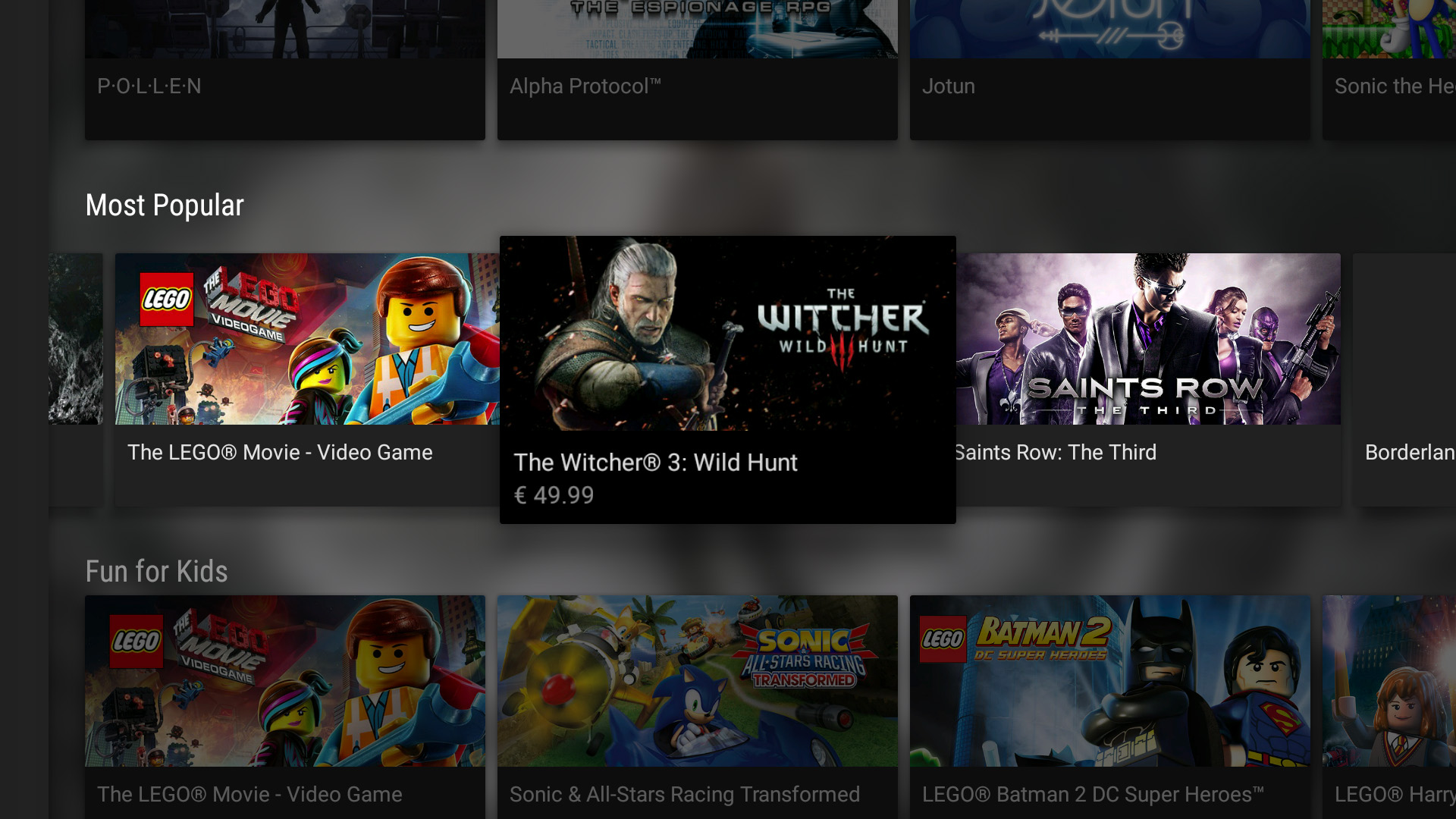 Videogiochi popolari GeForce Now