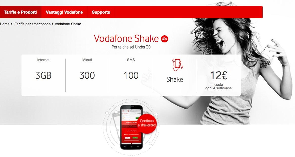 Vodafone Summer Card 2016: i piani Shake, prezzi e dettagli
