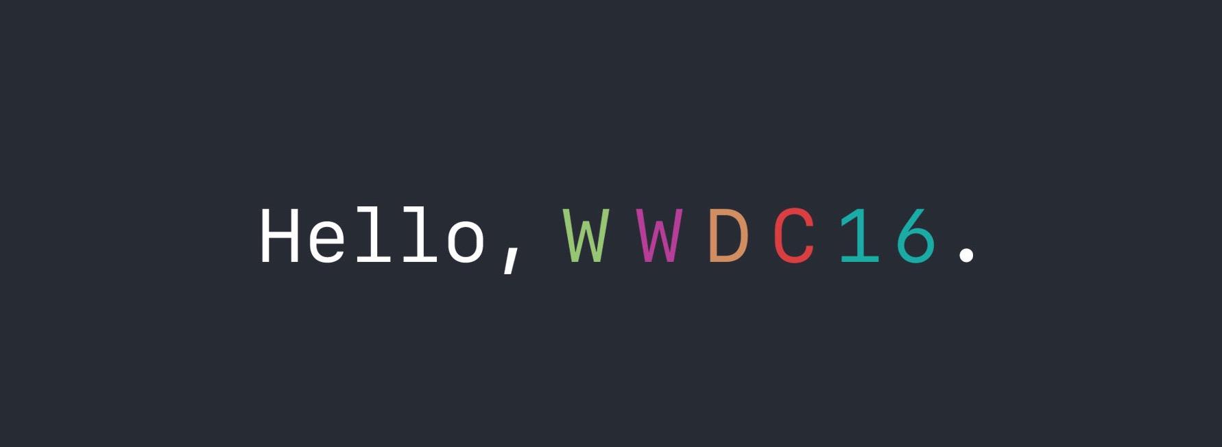WWDC 2016 logo