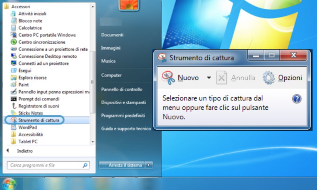 Catturare schermo Windows 10, Windows 8 e Windows 7