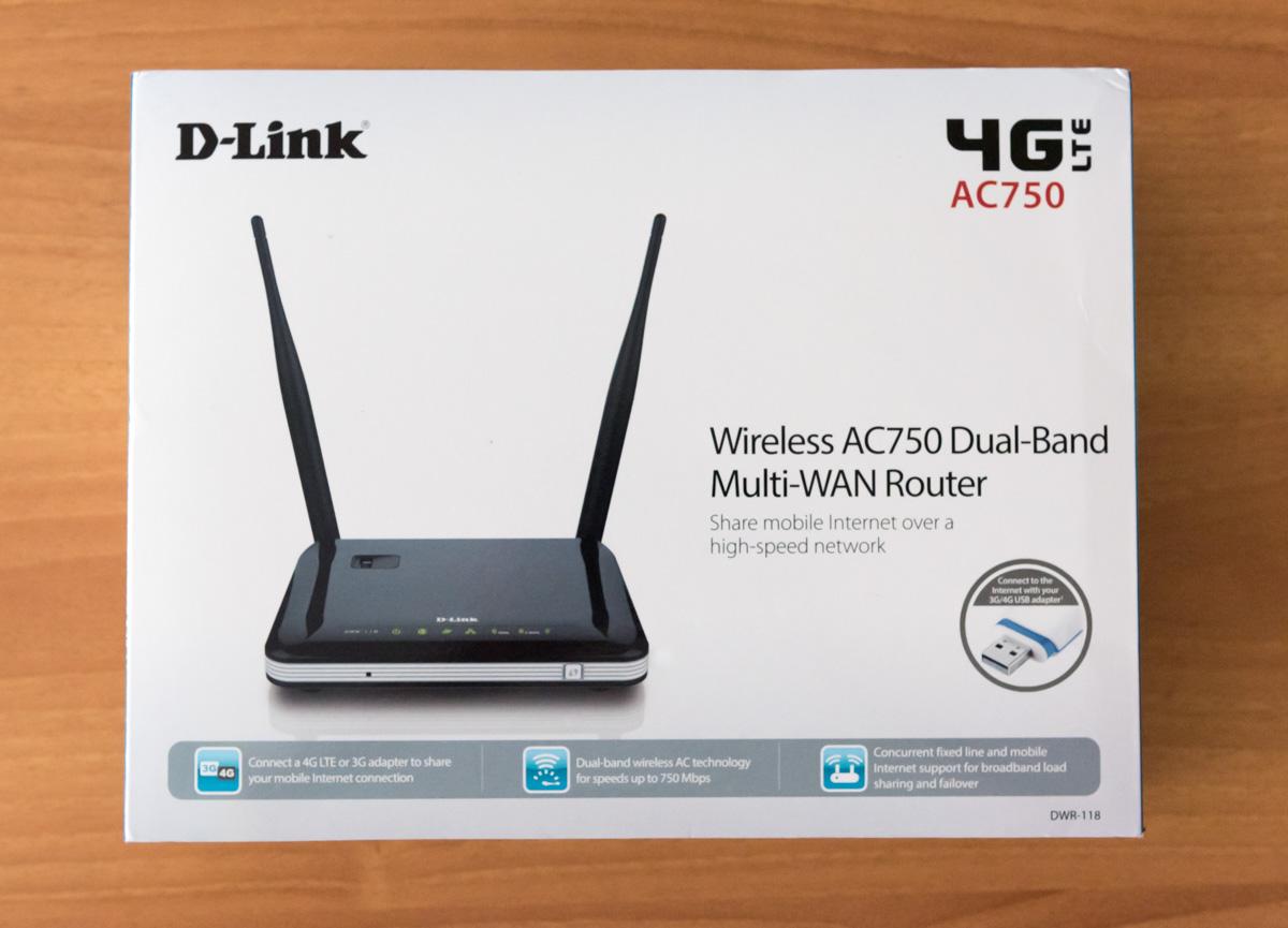 D Link DWR 118 AC750 unboxing