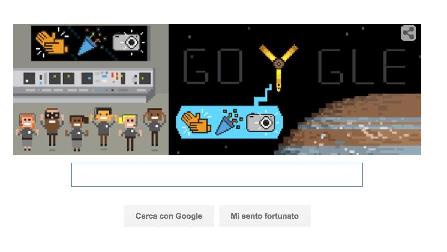 Google Doodle Juno Sonda NASA
