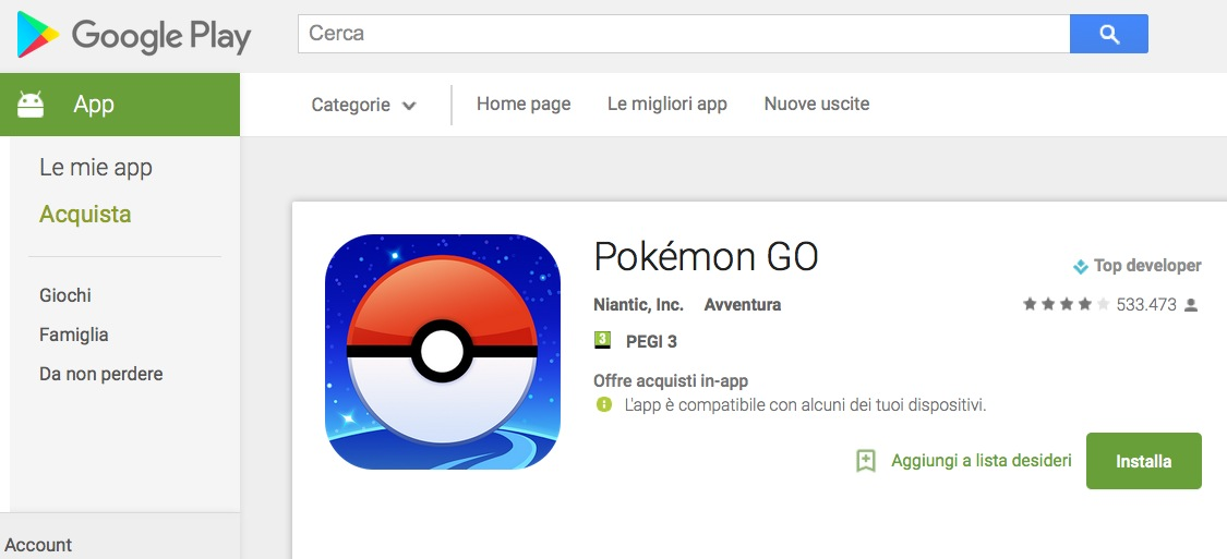 Pokemon Go download Android