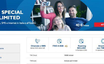 TIM Special Unlimited e Next Unlimited: prezzi e info sulle tariffe