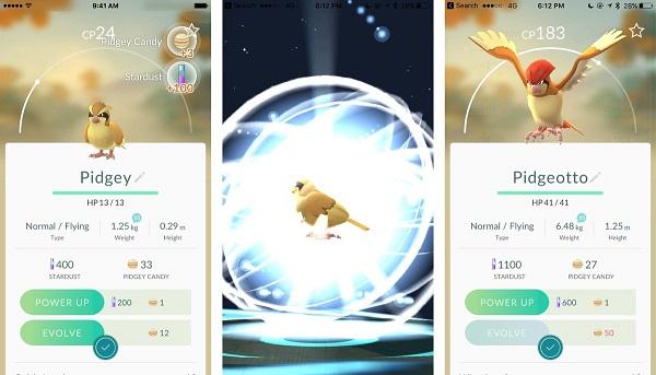 Pokemon Go evoluzioni e livelli