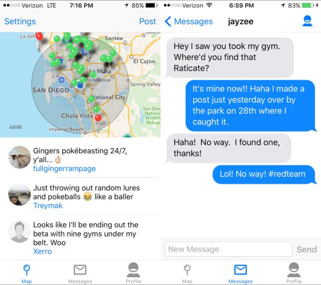 Pokemon Go chat tra utenti con GoChat per Android e iOS