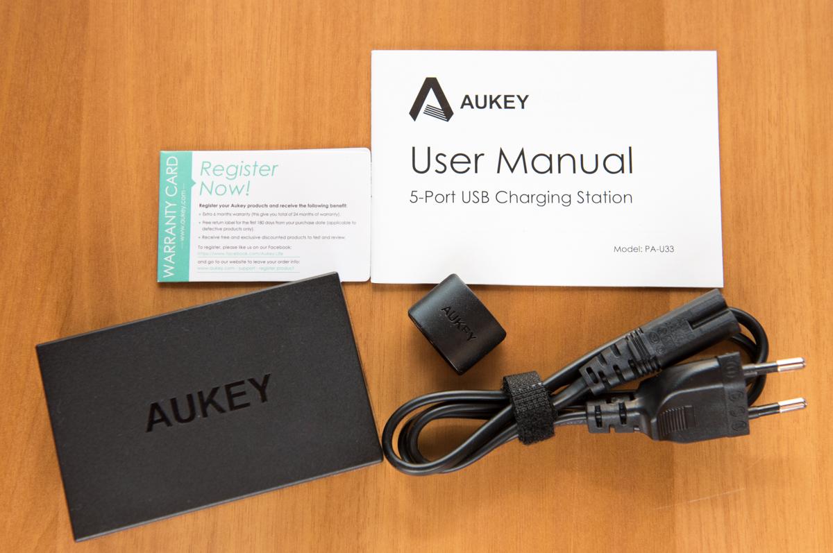 AUKEY PA U33 contenuto scatola