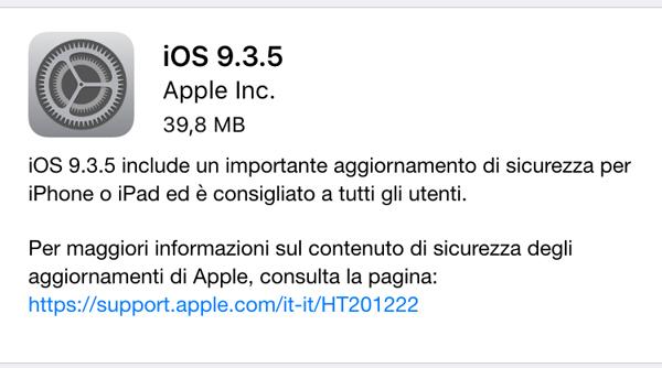 Aggiornamento iOS malware Pegasus