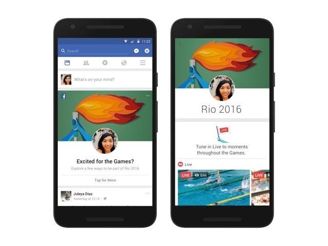 Facebook Olimpiadi Rio 2016