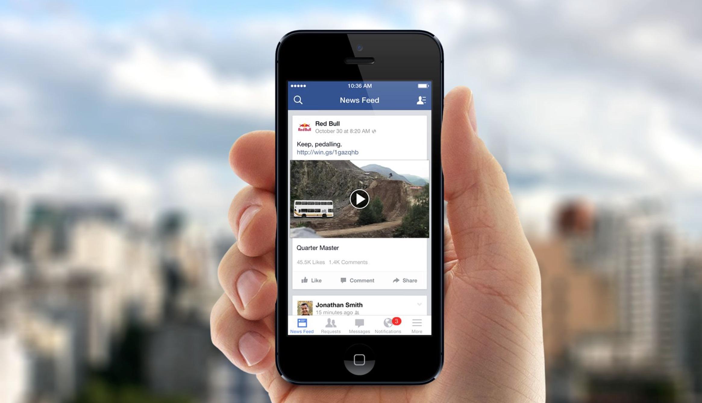 Facebook testa la riproduzione automatica dei video con audio