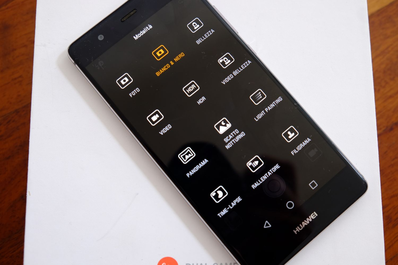 Huawei P9 menu fotocamera
