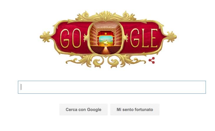 Google Doodle per l'Inaugurazione Teatro alla Scala