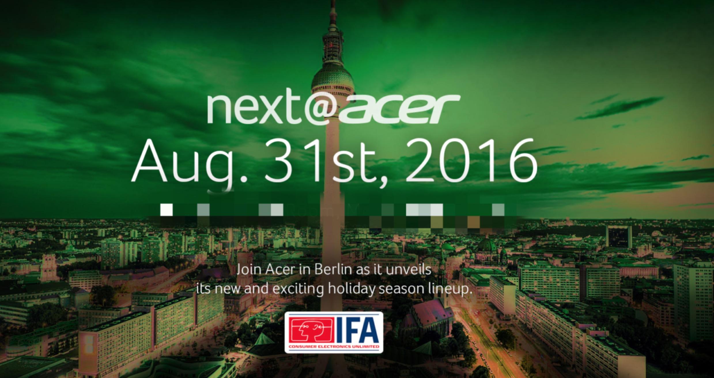 Invito Acer IFA 2016