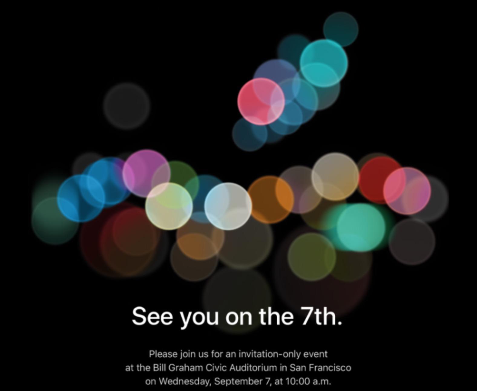 Invito evento Apple settembre