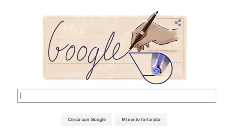 Google Doodle per László Bíró, inventore della penna a sfera