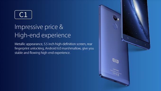 Elephone C1: prezzo e scheda tecnica ufficiali