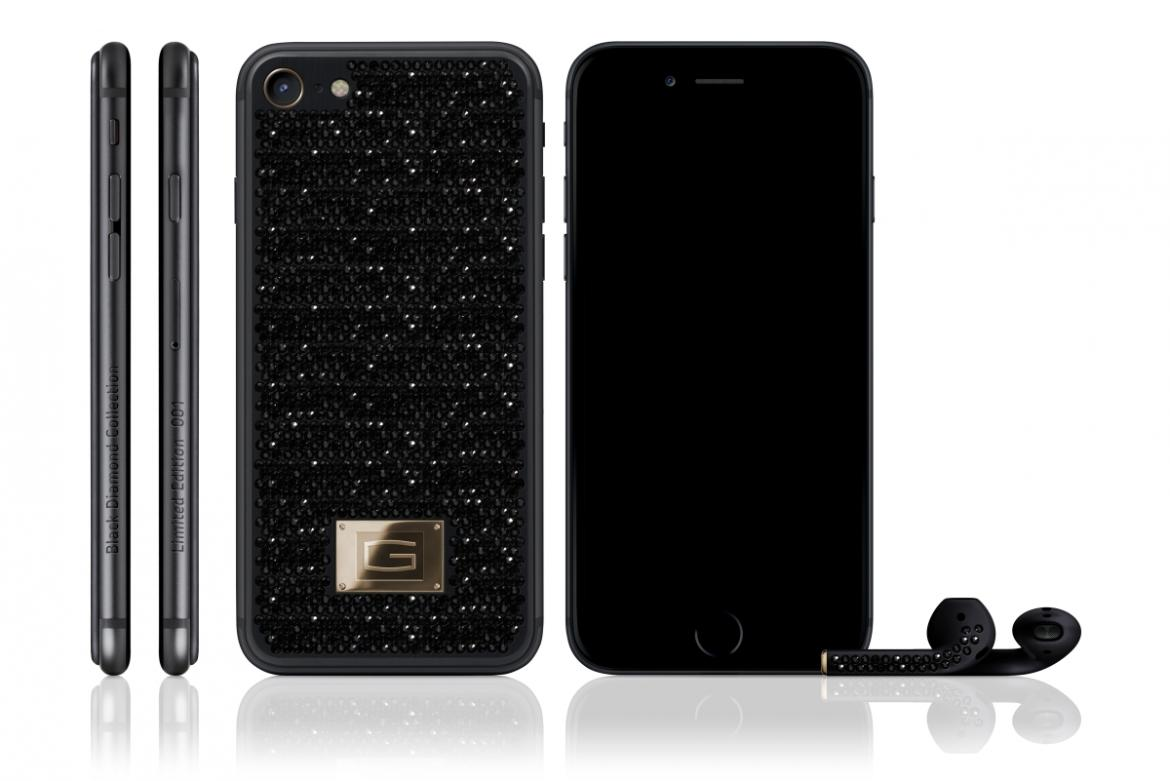 iPhone 7 Gresso Black Diamond: la versione con oro e diamanti