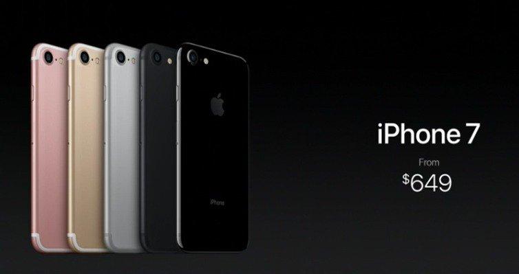 Prezzo iPhone 7 ufficiale