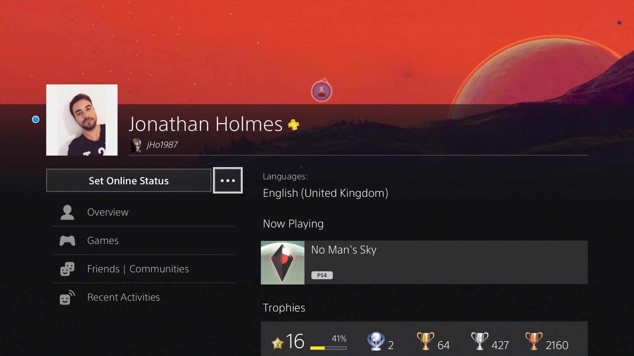 Profilo PlayStation 4