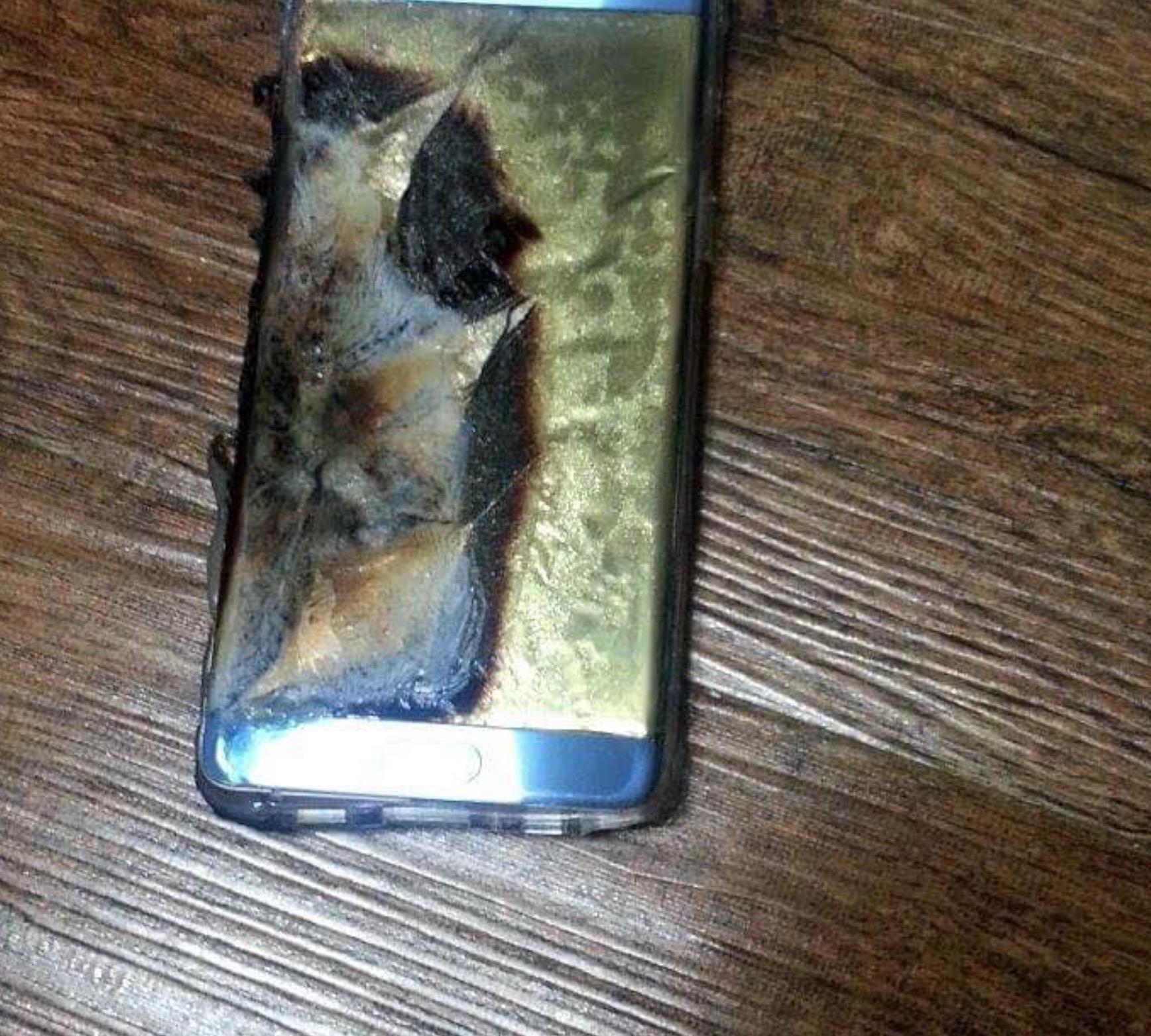 Samsung Galaxy Note 7 bruciato