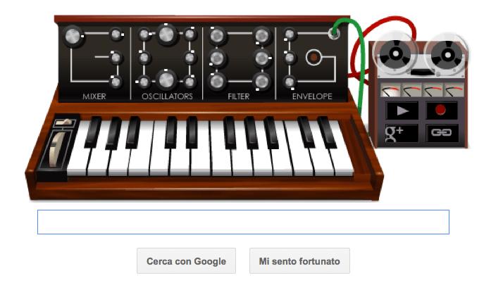 google doodle sintetizzatore