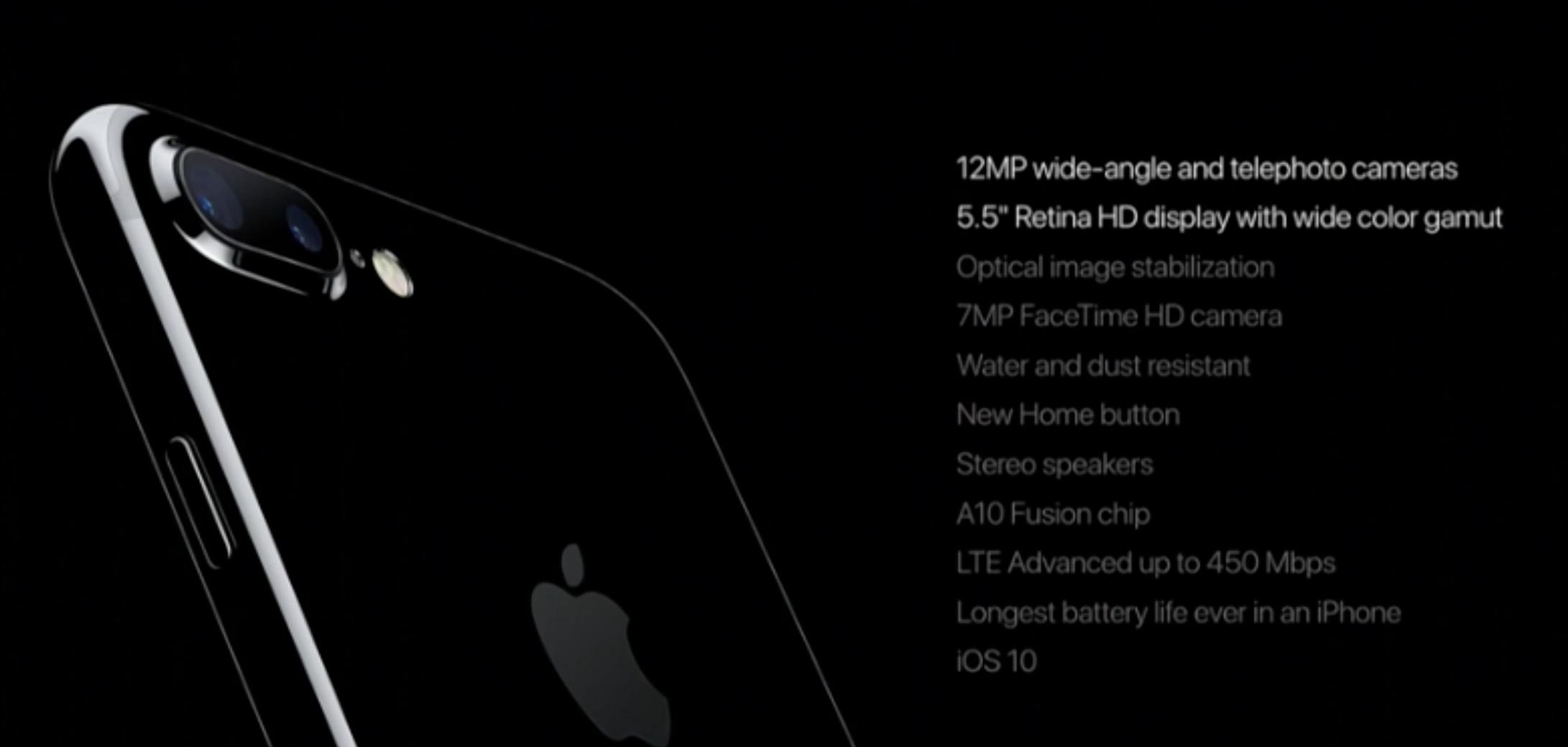 iPhone 7 Plus specifiche tecniche e caratteristiche