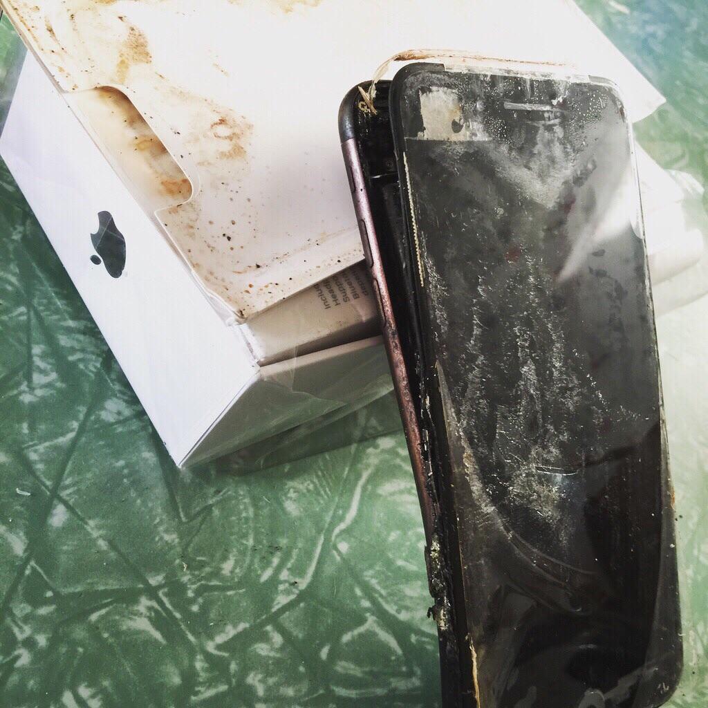 iPhone 7 bruciato